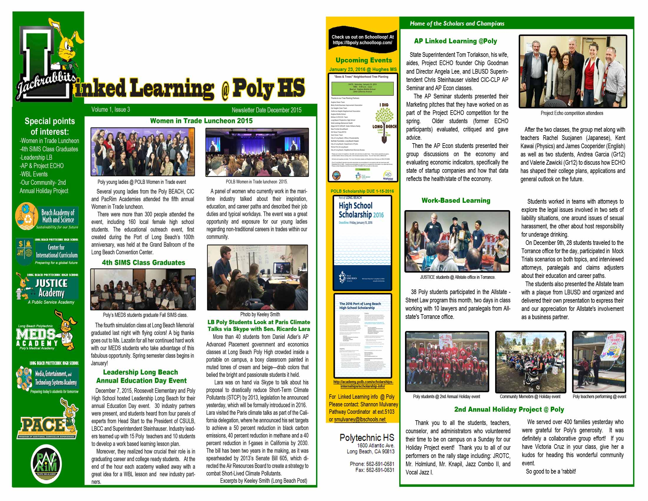 December Linked Learning Newsletter
