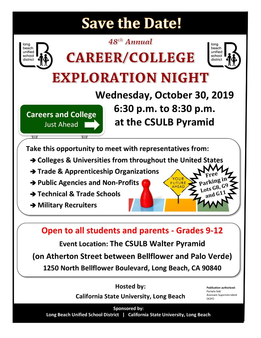 Career/College Exploration Night Oct 30, 2019