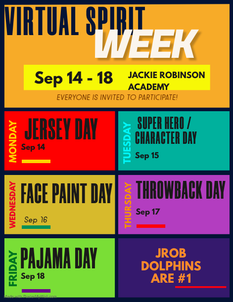 Spirit Week Sept. 14-18