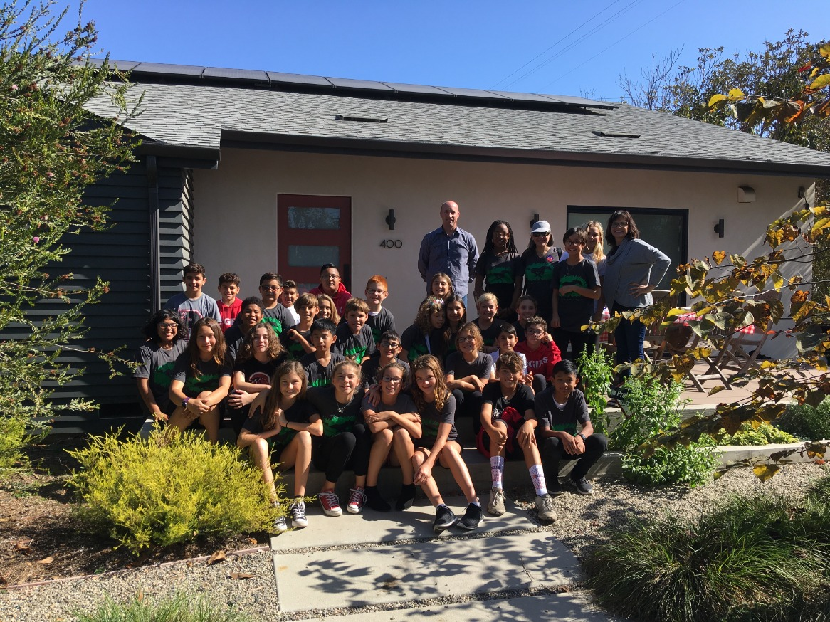Green Team visits a net zero home. Thanks to the Browns! We learned how to make  our homes m