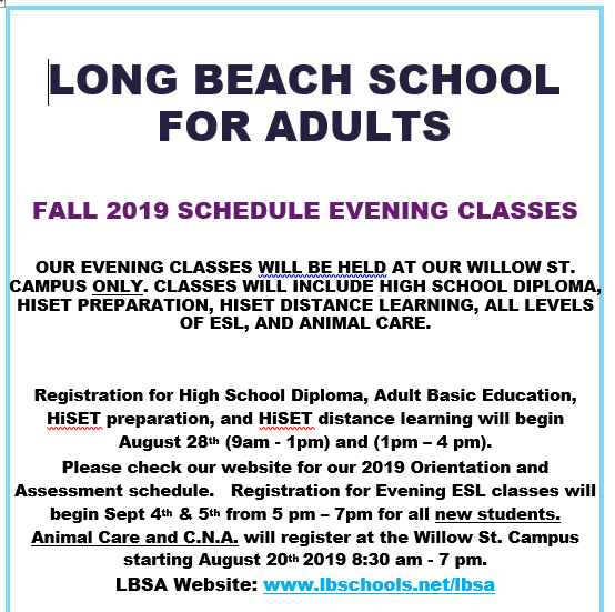 The Long Beach School For Adults