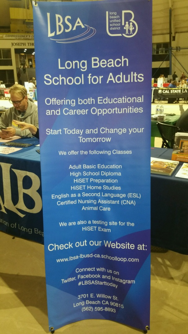 long beach school for adults banner