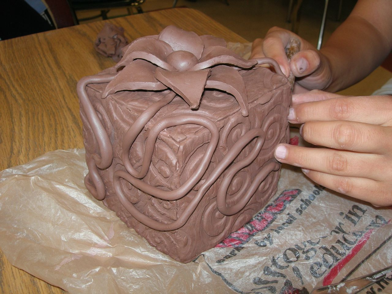 clay box with lid