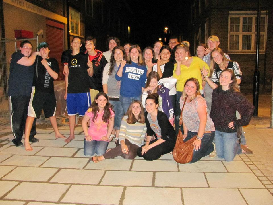 Tour Group in London on Last Night 2012
