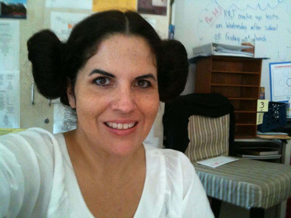 Ms. Combs as Princess Leia