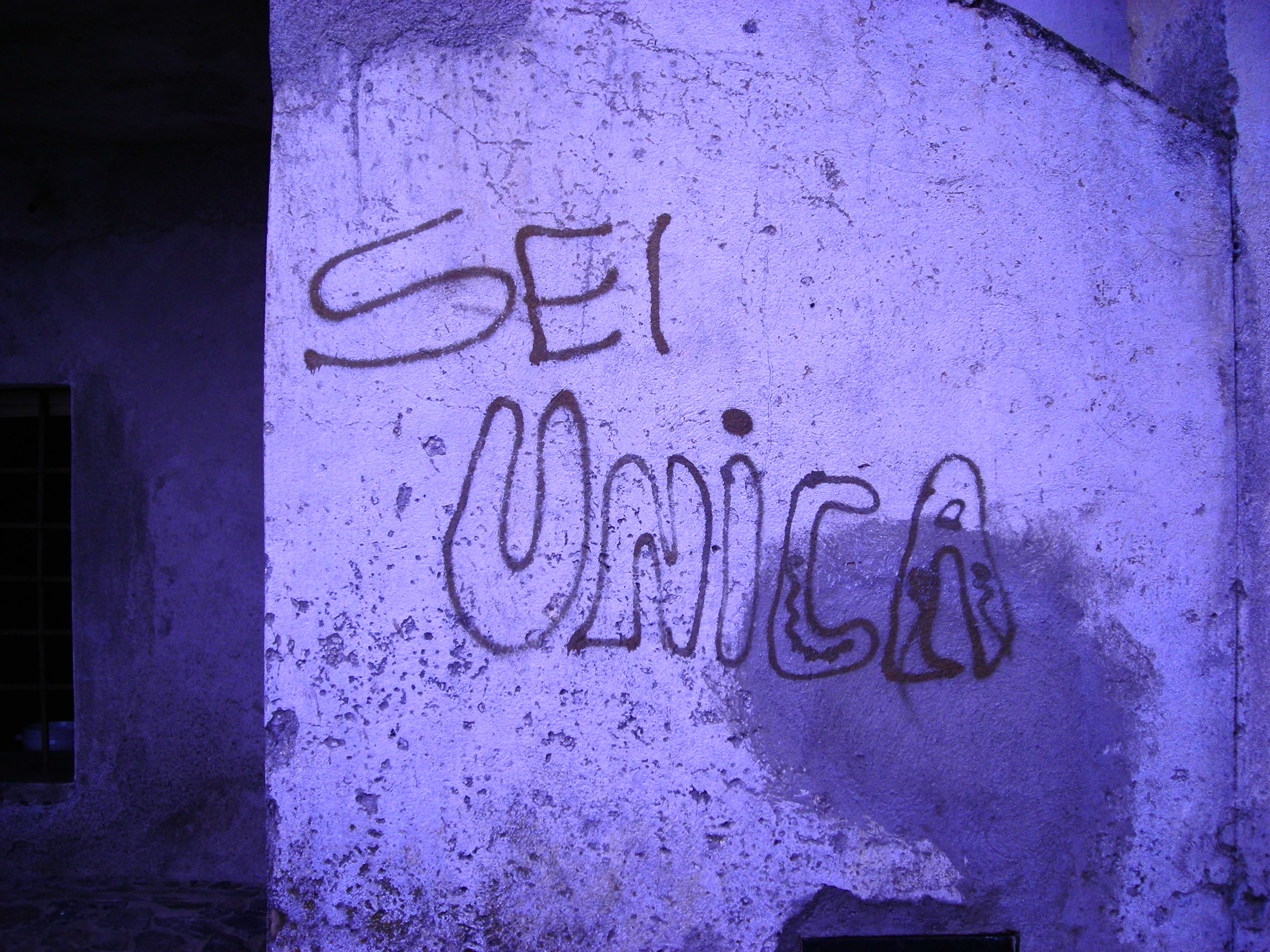 Graffiti in Italy is not gang related.  This one says,