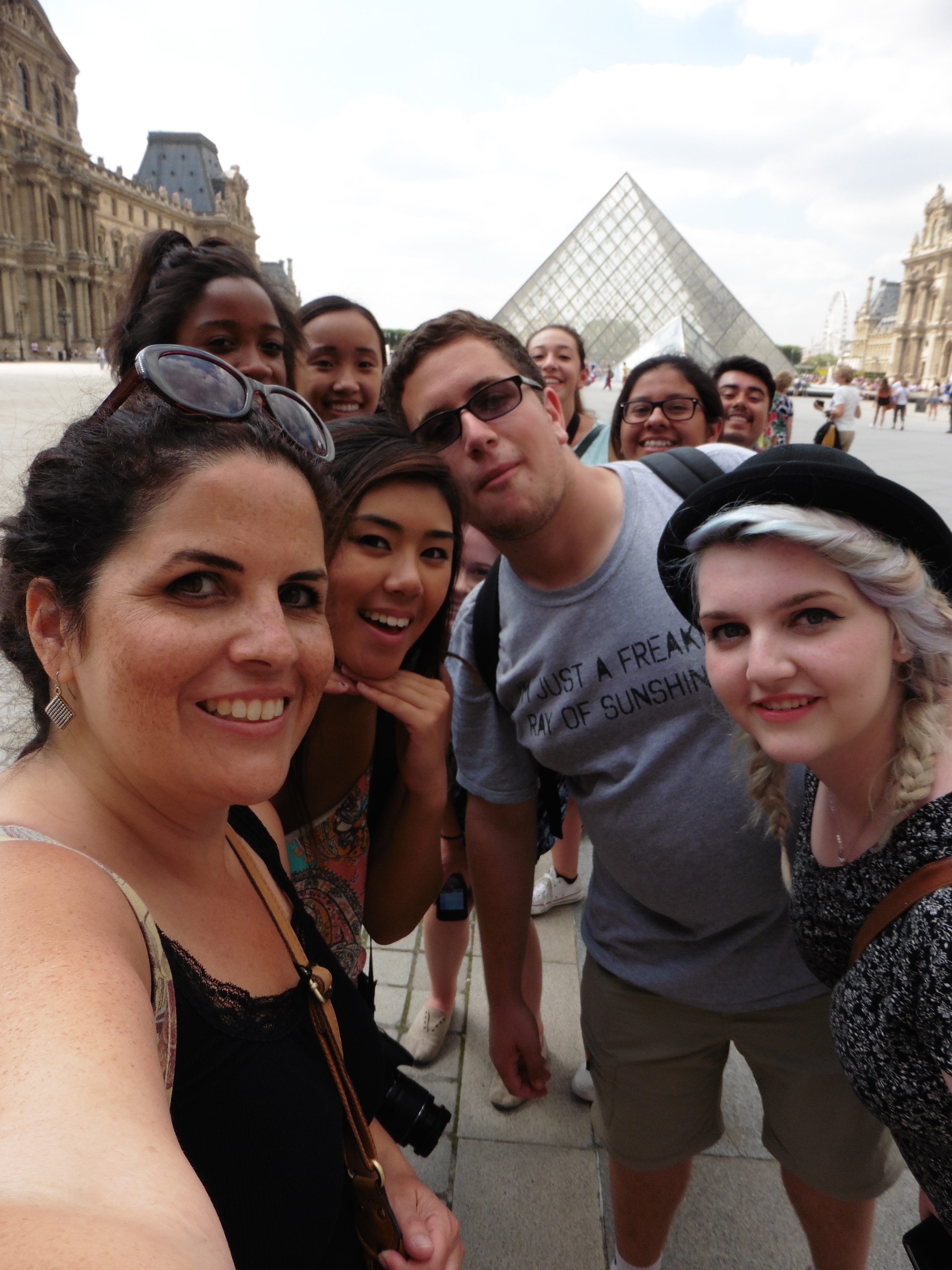 Ms. Combs and Wilson Kids at the Louvre in Paris