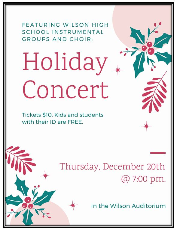 holiday concert December 20th