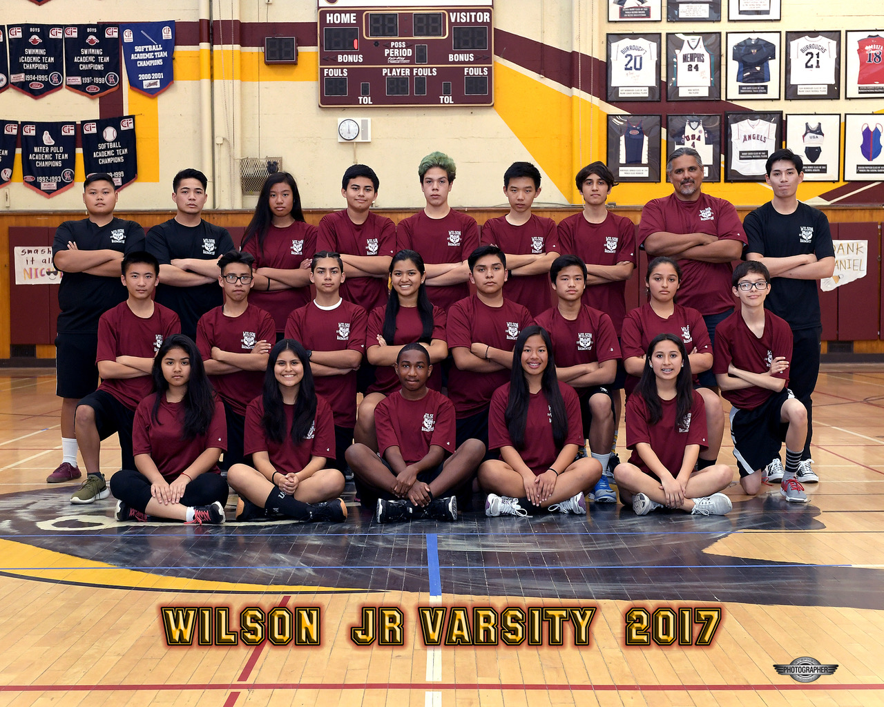 2017 Junior Varsity Badminton Team