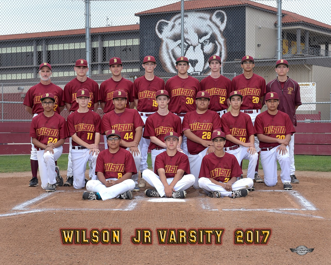 2017 Junior Varsity Baseball Team