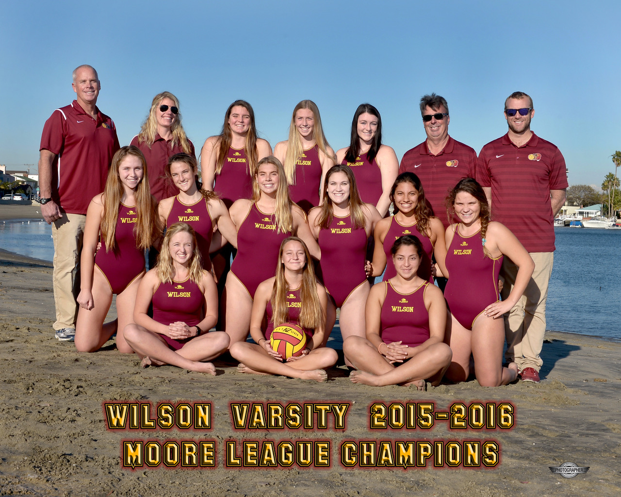 2015-16 Varsity Girls Water Polo - Moore League Champions