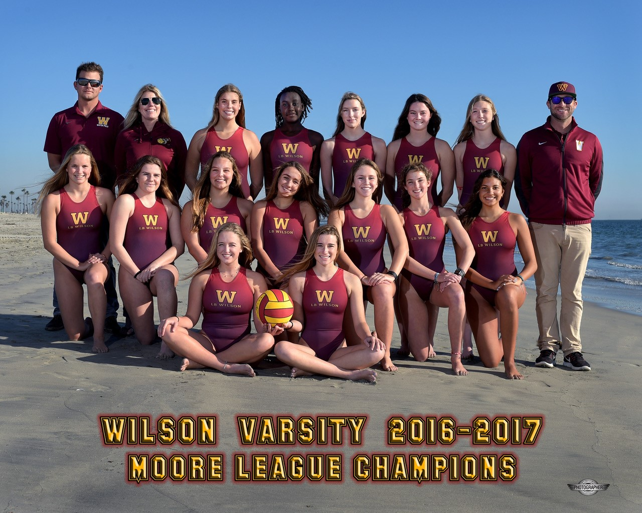 2016-17 Varsity Girls Water Polo Team