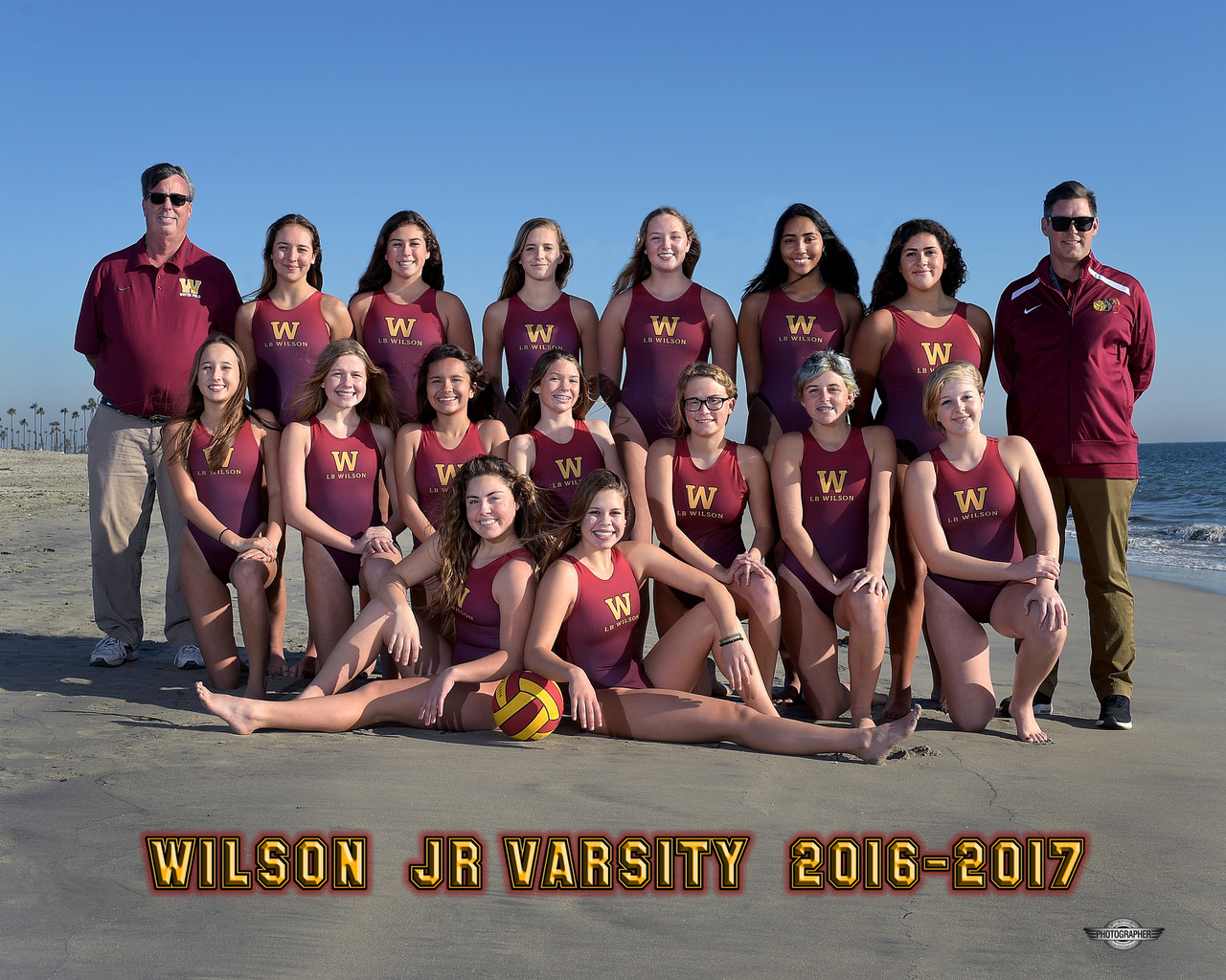 2016-17 Junior Varsity Girls Water Polo Team