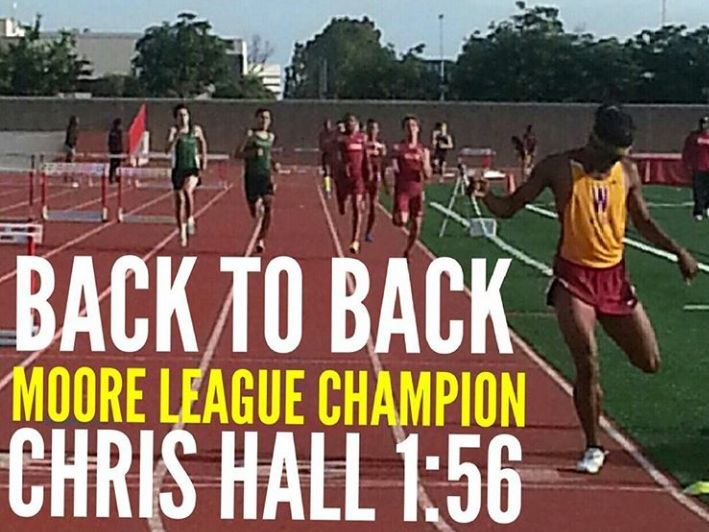 Chris Hall - 800m Moore League Champion