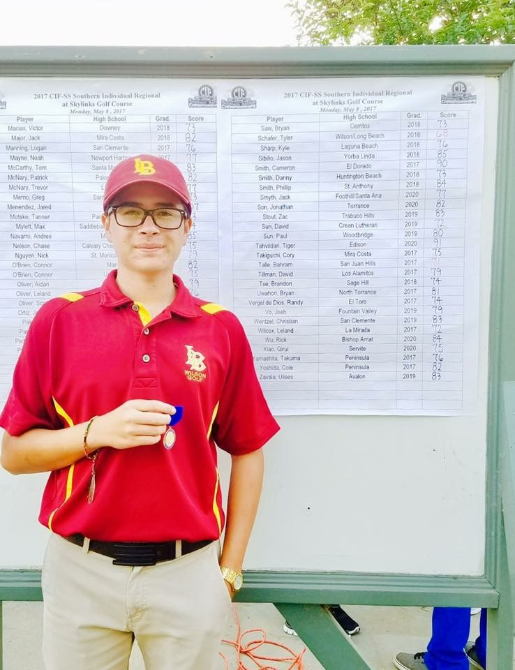 Tyler Schafer - Medalist - 2017 CIF-SS Southern Individual Regional