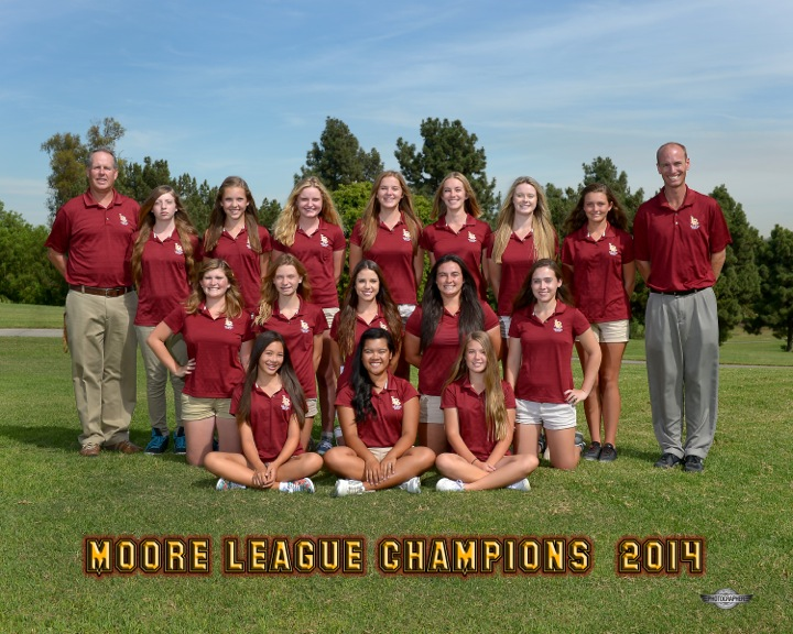 2014 Wilson Girls Golf Team - Varsity and JV Moore League Champions