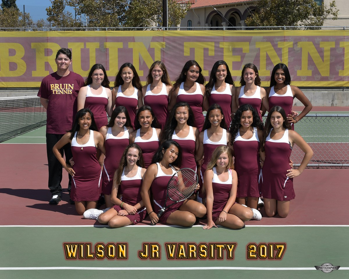 2017 JV Girls Tennis Team