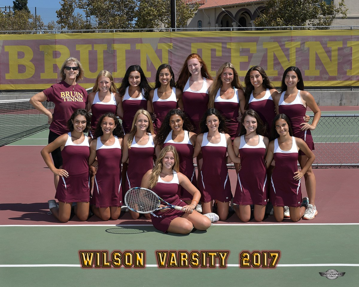 2017 Varsity Girls Tennis Team