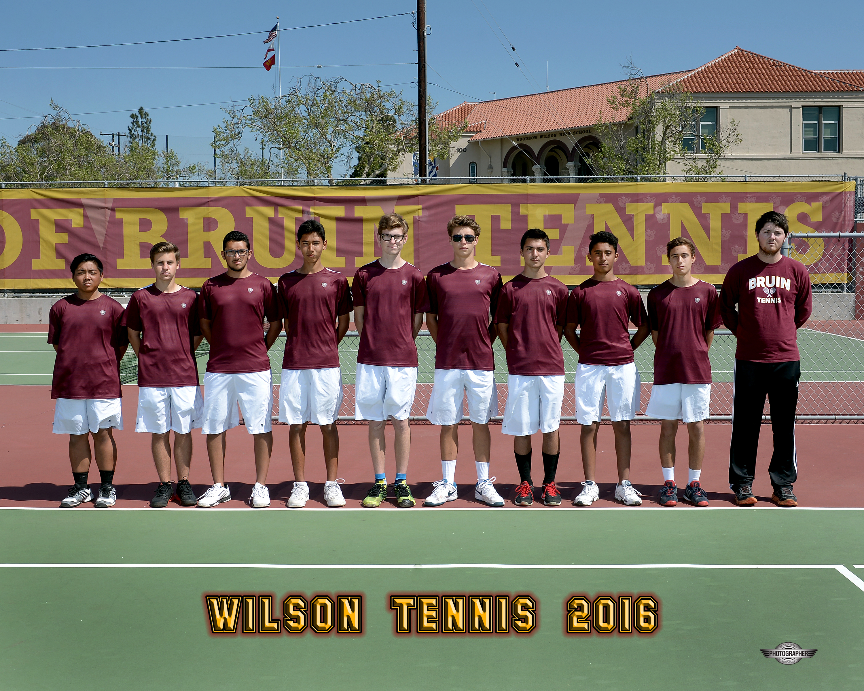 2015-16 Boys Tennis Team