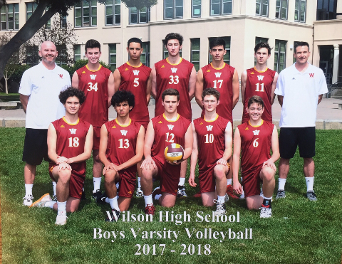wilson high school boys varsity volleyball group photo