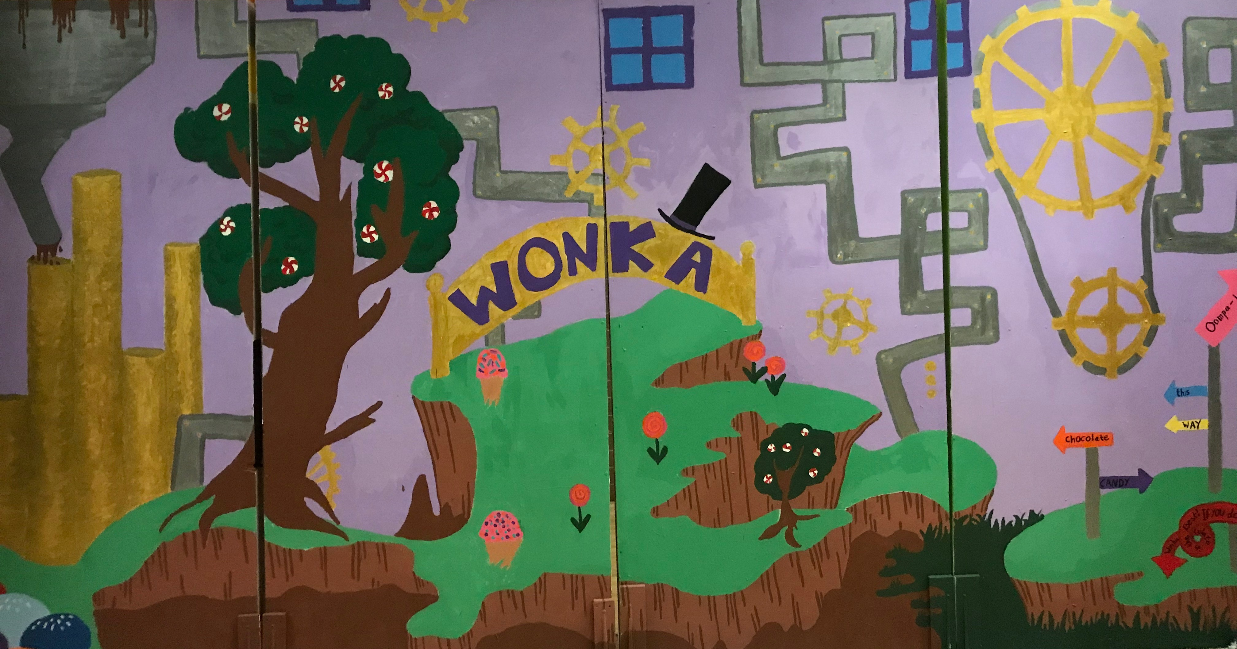 Charlie and the Chocolate Factory backdrop-Theatre Production