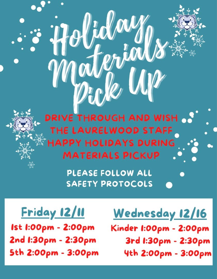 Holiday Materials pick-up flyer