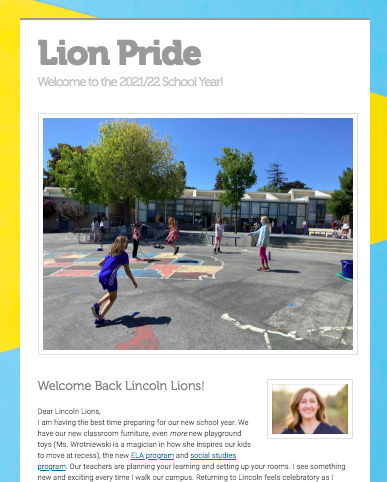Lion Pride Welcome Back