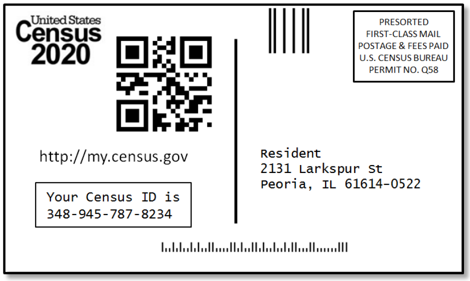 Census postcard