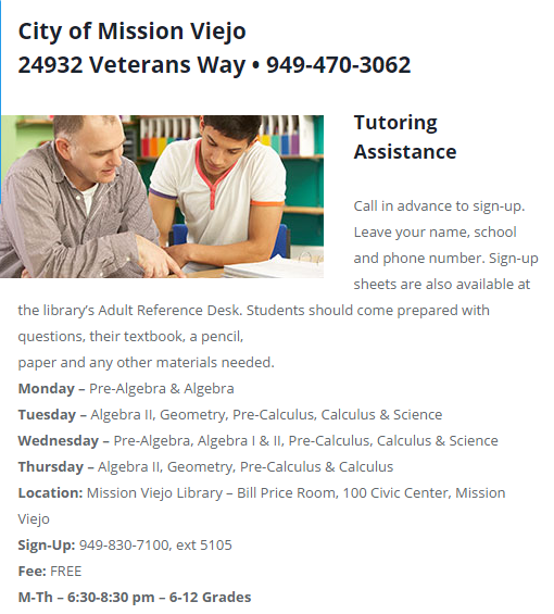 Tutoring Assistance