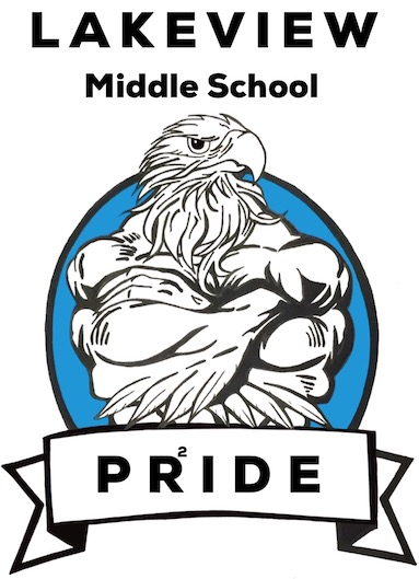 Lakeview PRIDE eagle logo