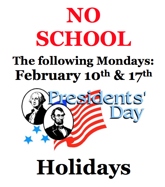 President's Day Holiday Flyer