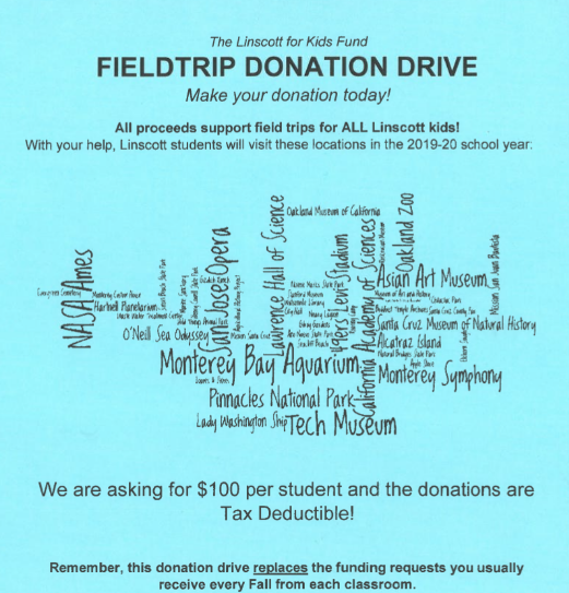 Field Trip Donation Drive Flyer