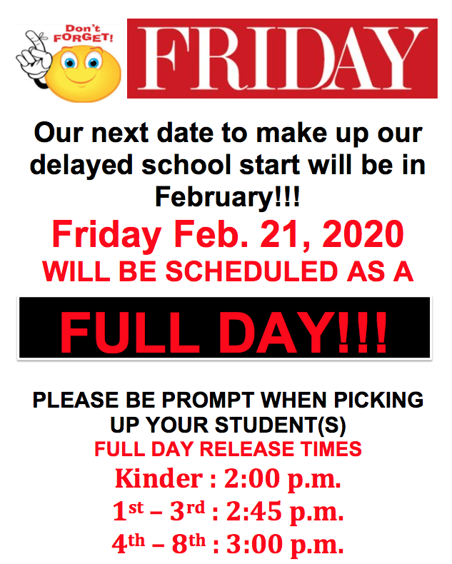 Friday Full Day Schedule Flyer