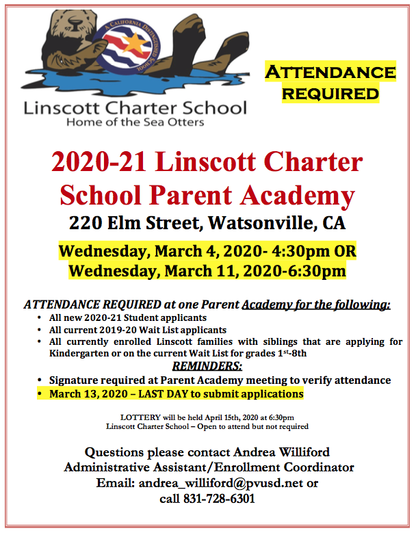 Parent Academy flyer