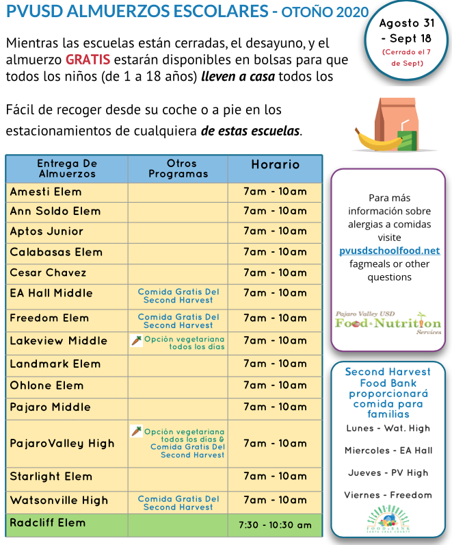 PVUSD Meals Flyer-Spanish