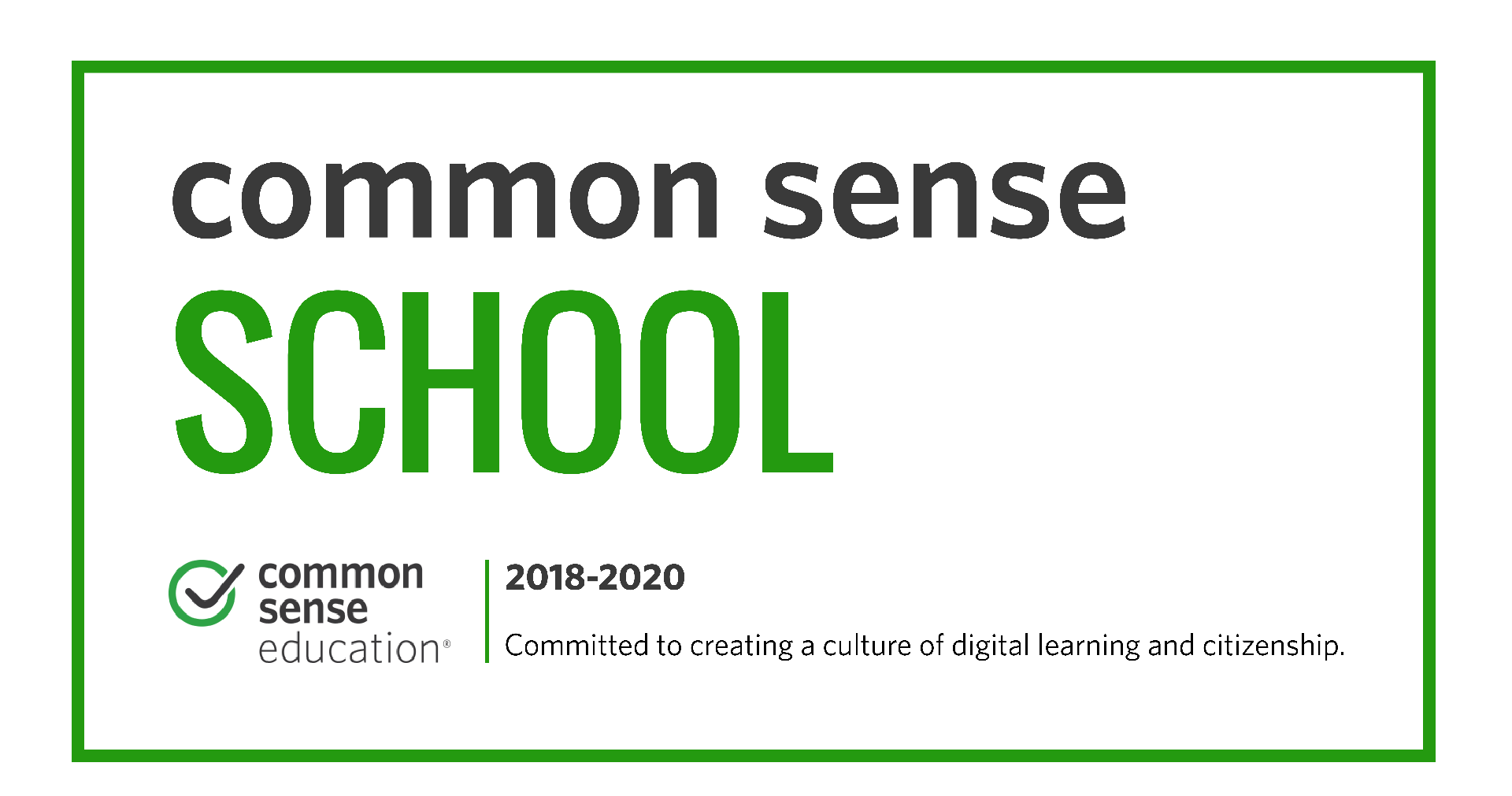 Common Sense Media School Banner