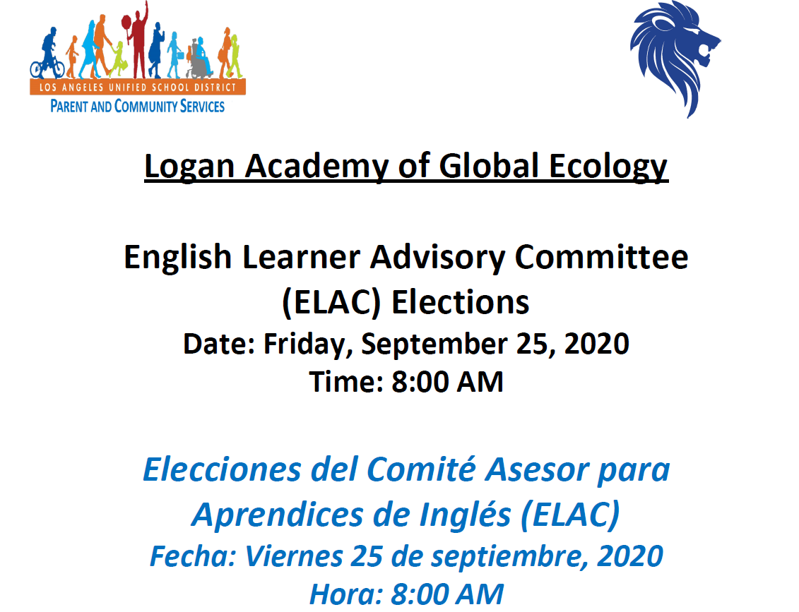 ELAC Elections meeting, Sept 25 @ 8AM