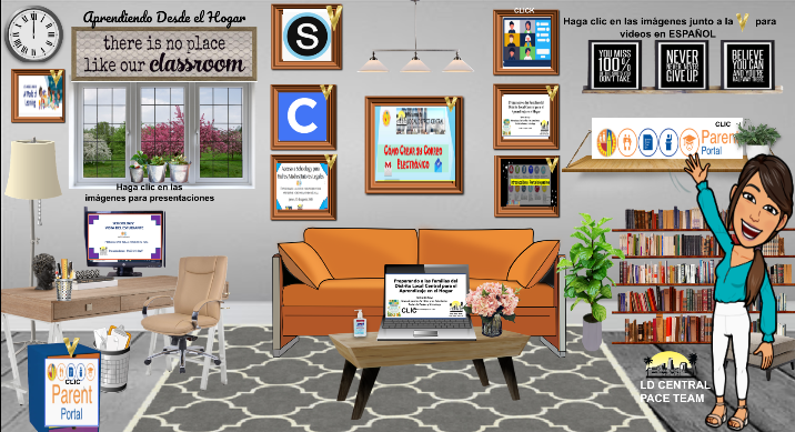 Virtual class image with active links