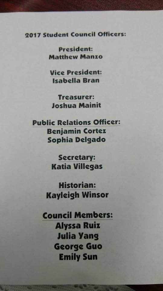 Student Council 2017/2018