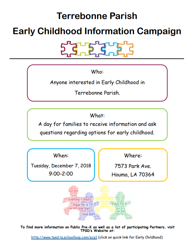 Terrebonne Parish Early Childhood Information Campaign