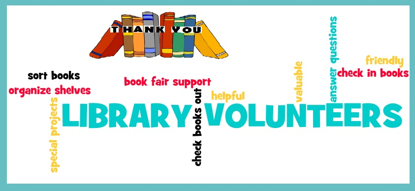 library volunteers banner