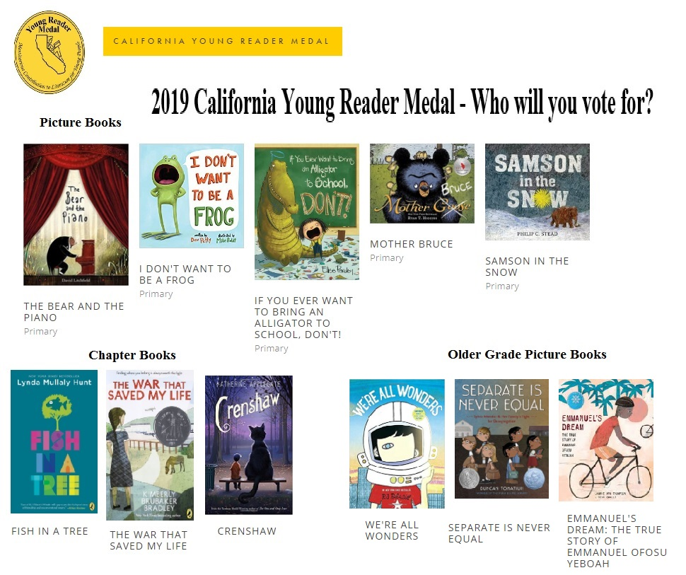 California Young Reader Medal Contenders
