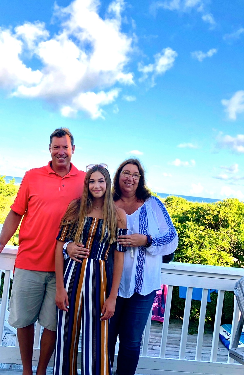 Ms. Meschery and Family at Wrightsville Beach, NC (summer 2018)