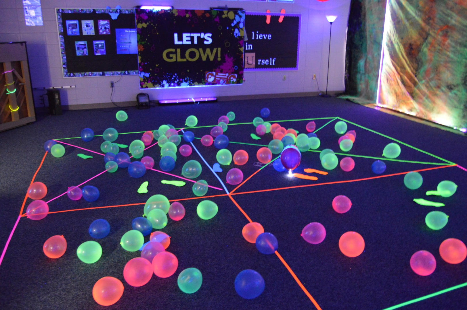 Glow room party