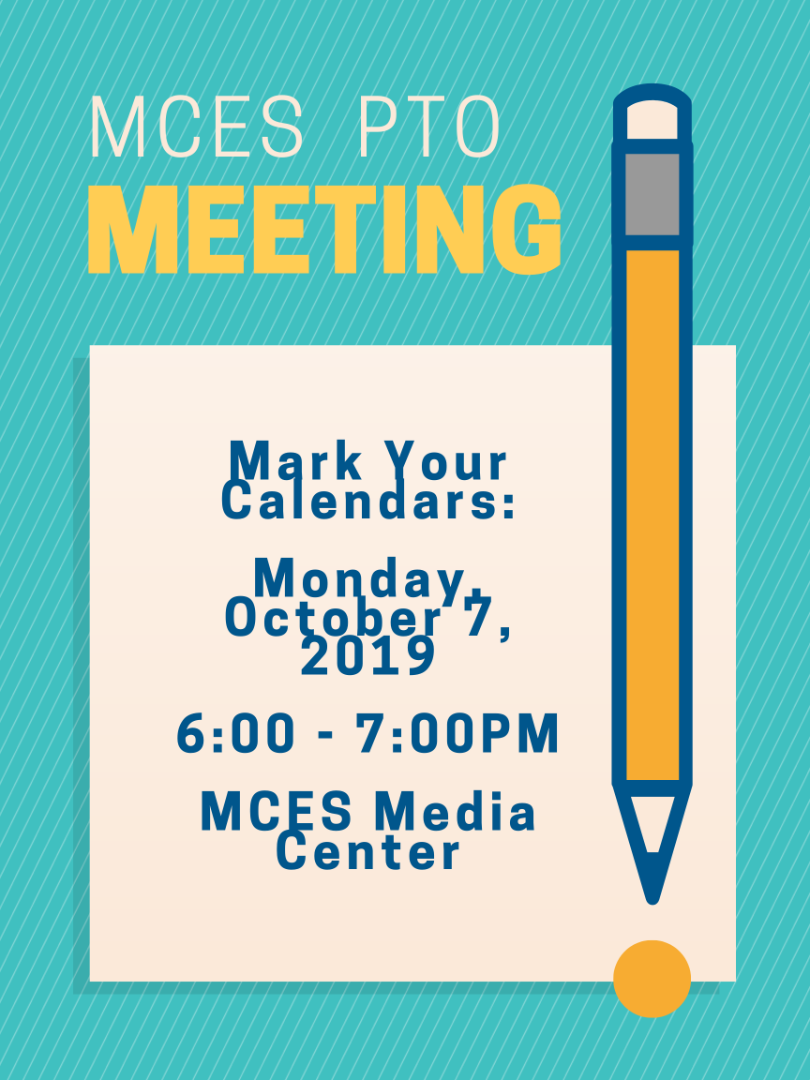 Info about mces pto meeting