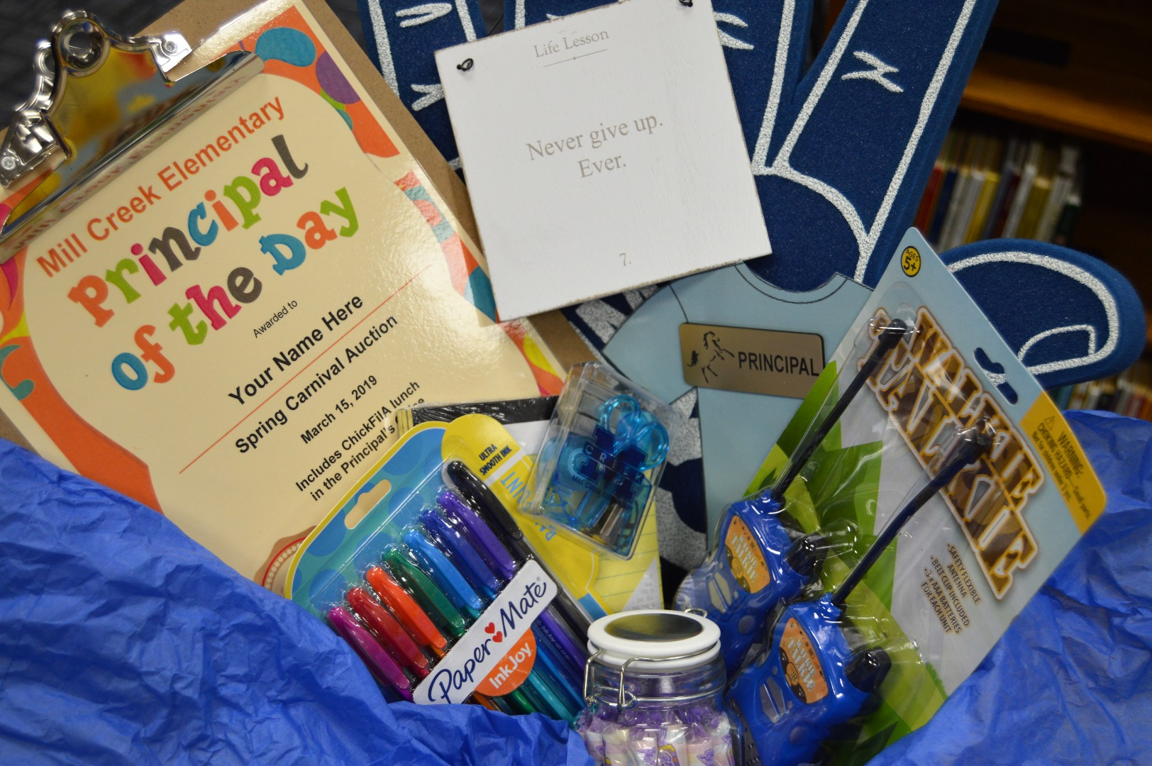 Principal for a day basket