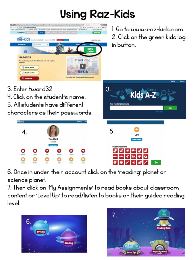 Using Raz-Kids Help Sheet