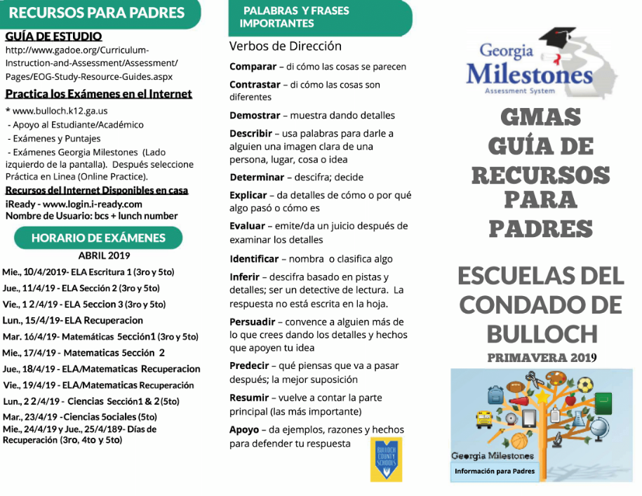 Spanish GMAS for parents pg 1