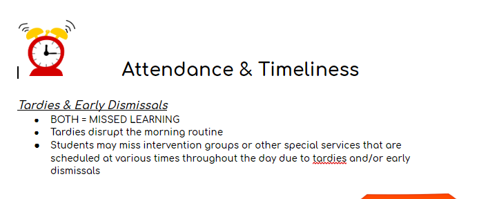 attendance and Timeliness