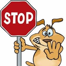 Animal with stop sign